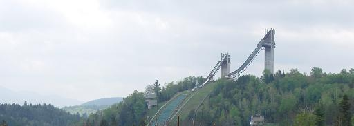 Olympic ski jumps in Lake Placid, New York