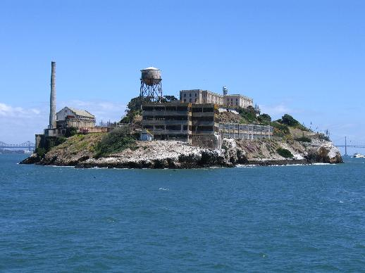 Alcatraz Island in San Francisco Bay, California