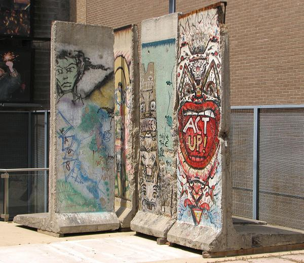 A section of the Berlin Wall at Freedom Park in Arlington, Virginia