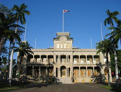 Iolani Palace in Honolulu, Hawaii