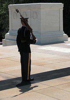 Tomb of the Unknown Soldier at Arlington National Cemetery in Arlington, Virginia