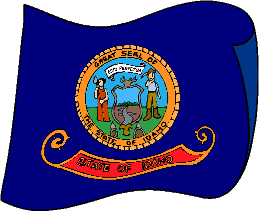 Idaho Flag - pictures and information about the flag of Idaho