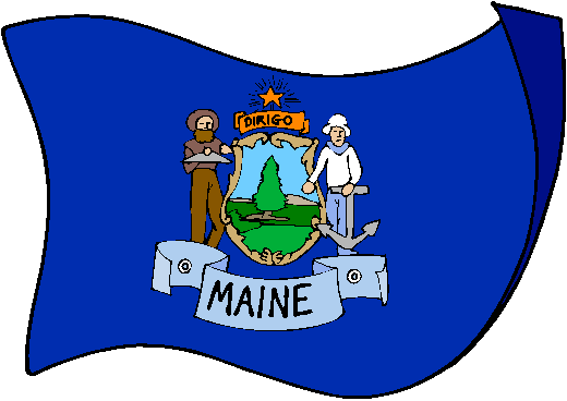 Maine Flag - pictures and information about the flag of Maine