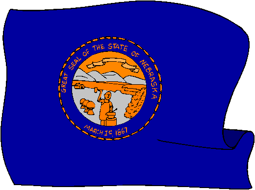Nebraska Flag - pictures and information about the flag of Nebraska