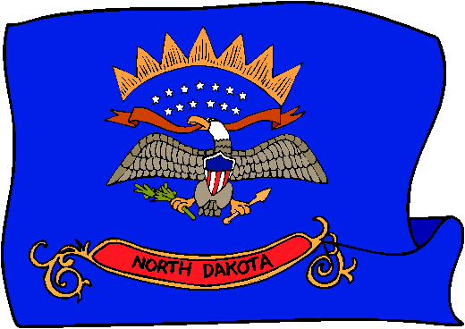 North Dakota Flag - pictures and information about the flag of North Dakota