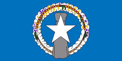 Northern Mariana Islands Flag - pictures and information about the flag of the Northern Mariana Islands