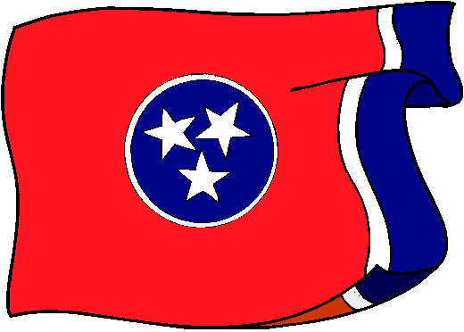 Tennessee Flag - pictures and information about the flag of Tennessee