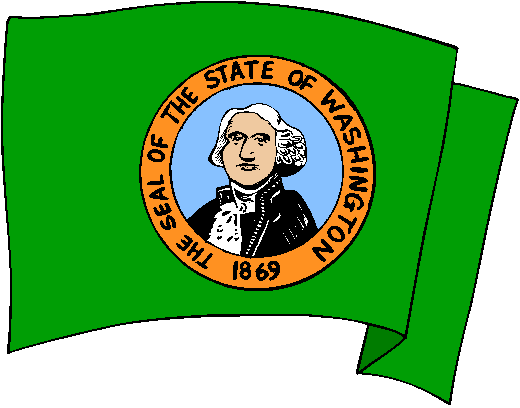 Washington Flag - pictures and information about the flag of Washington