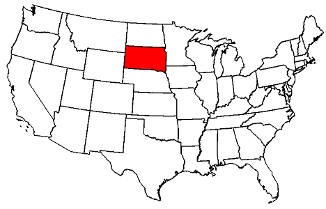 South Dakota location
