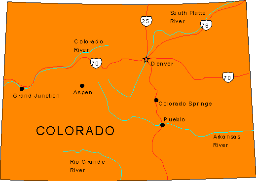 Map of Colorado