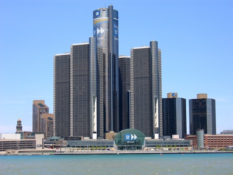 GM Headquarters in Detroit, Michigan