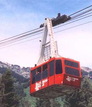 Jackson Hole cable car at Jackson Hole, Wyoming
