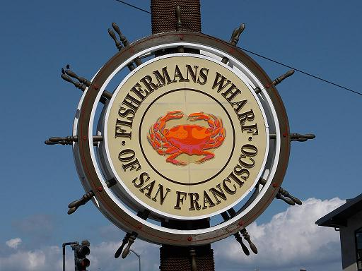 Fisherman's Wharf Sign in Fisherman's Wharf, San Francisco, California