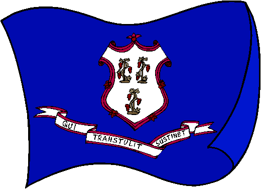 Connecticut Flag - pictures and information about the flag of Connecticut