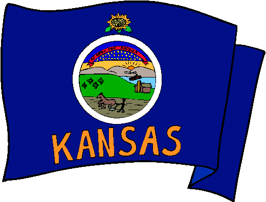 Kansas Flag - pictures and information about the flag of Kansas