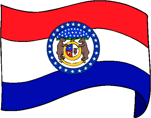 Missouri Flag - pictures and information about the flag of Missouri