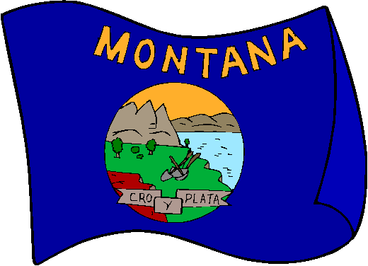 Montana Flag - pictures and information about the flag of Montana