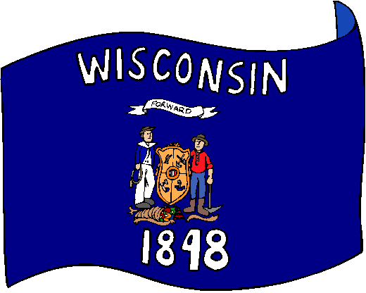 Wisconsin Flag - pictures and information about the flag of Wisconsin