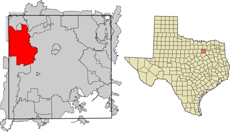 Location of Irving, Texas