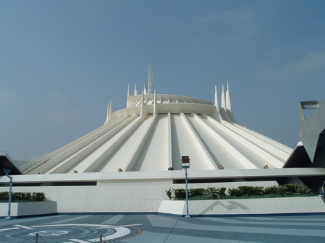 Space Mountain at Disneyland in Anaheim, California